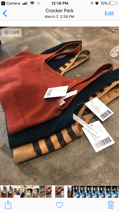 tank bras - that we HAD to have! at an urban outfitters near you! they are the jam!